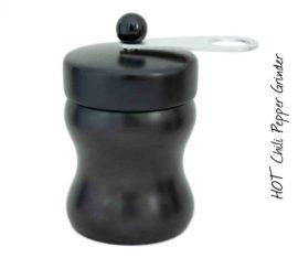 HOT Chilimühle Buche schwarz/ alu/ schwarz