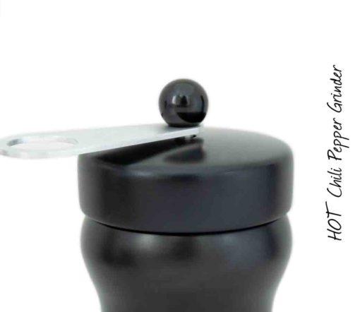 HOT Chilimühle Buche schwarz/ alu/ schwarz Detail