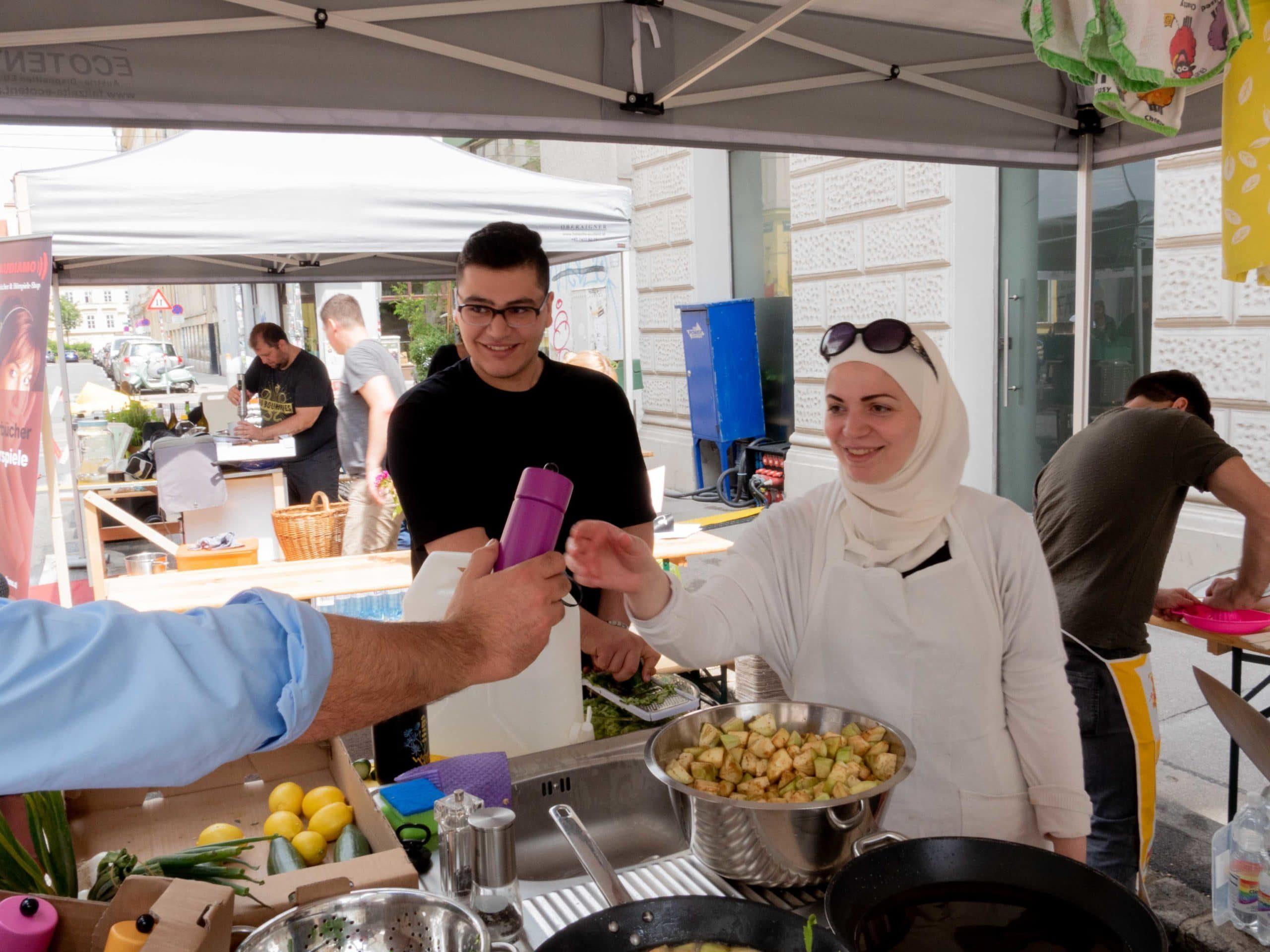 """Kochen in der Hermanngasse """"Habibis kochen"""""""