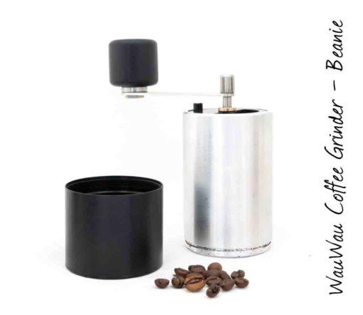 WauWau Kaffeemühle Beanie Buche Aluminium/Schwarz 25g