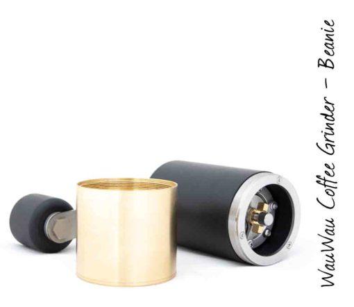 WauWau Kaffeemühle Beanie Buche schwarz/ Messing 25g