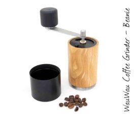 WauWau Kaffeemühle Beanie Buche natur/schwarz 25g