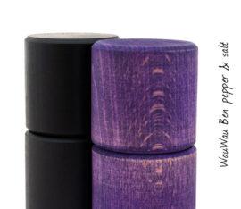 WauWau Ben Mühlenset Buche schwarz/Vintage violett
