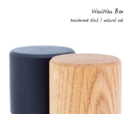 WauWau Ben Buche schwarz Eiche natur Mühlenset Detail