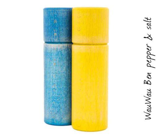 WauWau Ben Mühlenset Vintage blau/ Vintage gelb
