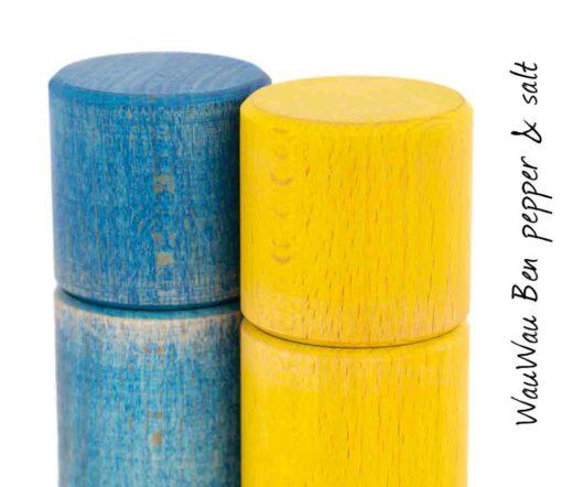 WauWau Ben Mühlenset Vintage blau/ Vintage gelb Detail