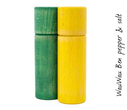 WauWau Ben Mühlenset Vintage grün/ Vintage gelb