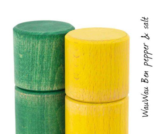 WauWau Ben Mühlenset Vintage grün/ Vintage gelb Detail