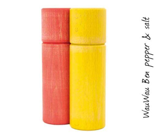 WauWau Ben Mühlenset Vintage rot/ Vintage gelb