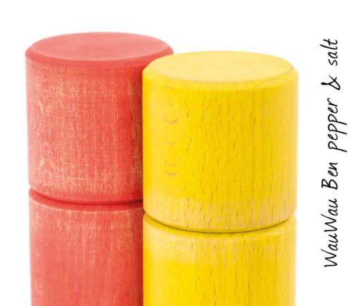 WauWau Ben Mühlenset Vintage rot/ Vintage gelb Detail