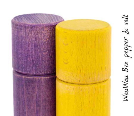 WauWau Ben Mühlenset Vintage violett/ Vintage gelb Detail
