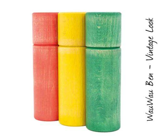 WauWau Ben Vintage Look rot/gelb/grün