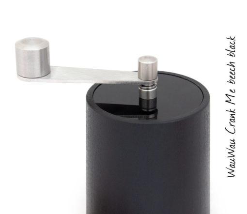 WauWau Chilimühle Crank Me denkel/ Deckel schwarz Detail