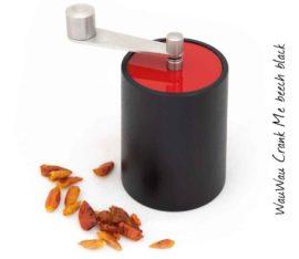 WauWau Chilimühle Crank Me dunkel/ Deckel rot