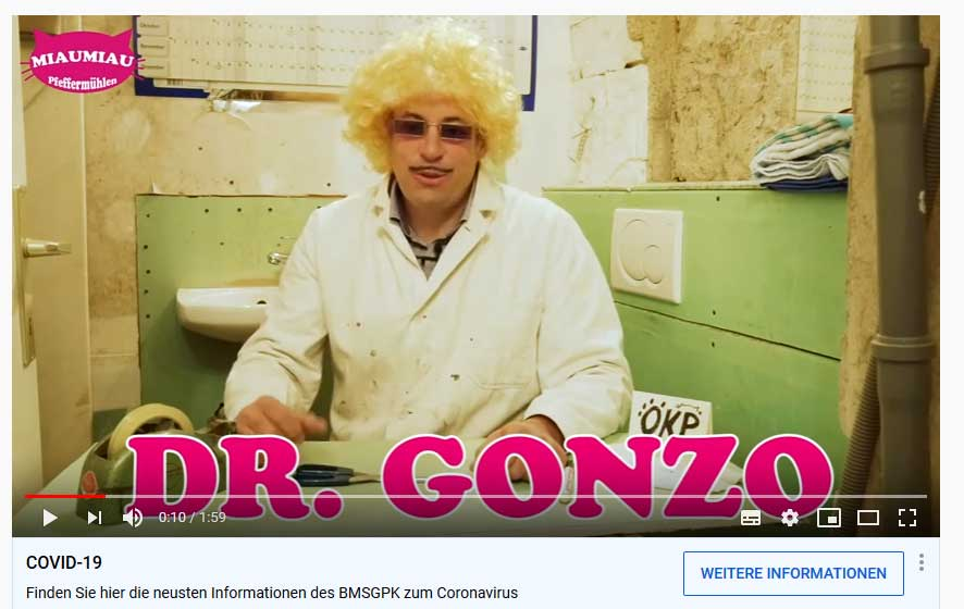 Dr.Gonzo im Home Office