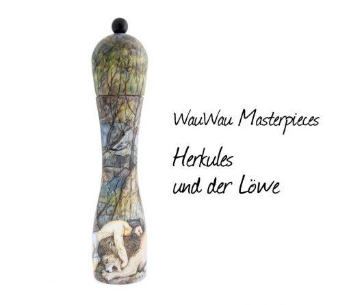WauWau Pfeffermühle Masterpieces Herkules und der Löwe Einzelstück