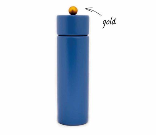 WauWau Pfeffermühle Jumsy fernblau Kugel gold