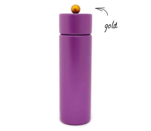 WauWau Pfeffermühle Jumsy violett Kugel gold