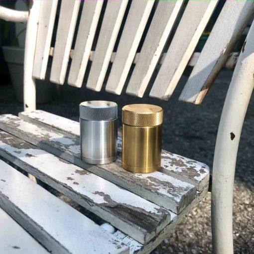 WauWau Reisemühlen Mini: Aluminium, Messing