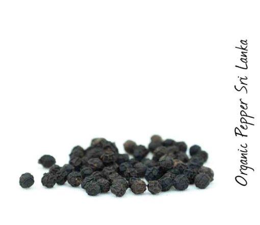 Bio schwarzer Pfeffer aus Sri Lanka Detail