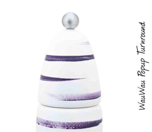 WauWau Popup Turnround Glatt violett Detail