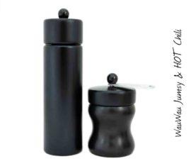 WauWau Mühlenset: Jumsy schwarz & HOT Chili schwarz alu/schwarz