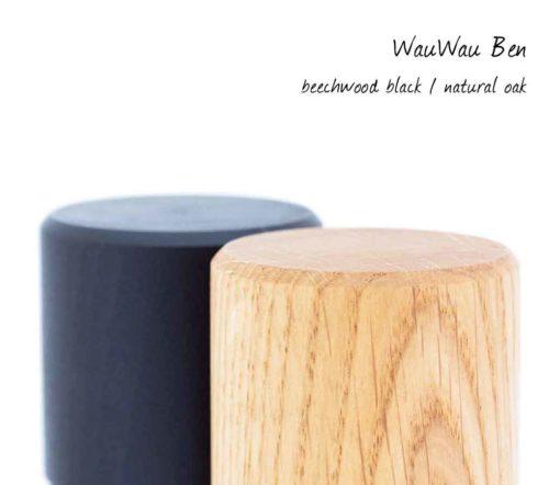 WauWau Ben Mühlenset Buche schwarz/ Eiche natur Detail
