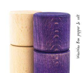WauWau Ben Mühlenset Buche/Vintage violett Detail