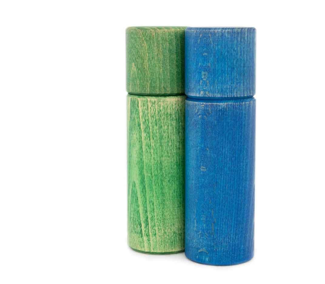 WauWau Ben vintage grün/ blau Mühlenset
