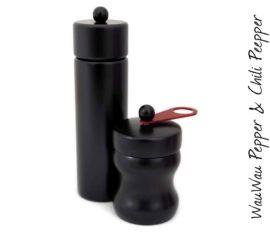 WauWau Mühlenset: Jumsy schwarz & HOT Chilimühle schwarz
