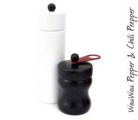 WauWau Mühlenset: Jumsy weiß & HOT Chilimühle schwarz