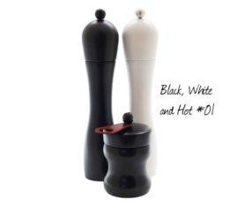 WauWau Mühlenset: Peppers Delight schwarz/ weiß , Hot Chili schwarz