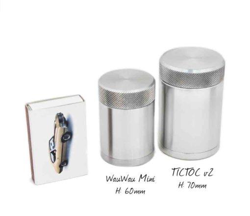 WauWau Reisemühle TICTOCv2 & Mini Größenvergleich